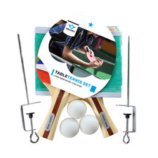 Angel Sports Tafeltennis Set met Netpost/3 Ballen/2 Bats