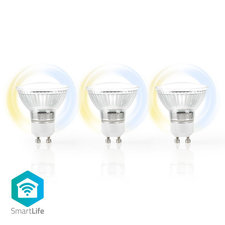Nedis WIFILW30CRGU10 Wi-fi Smart Led-lamp Warm Tot Koel Wit Gu10 3-pack