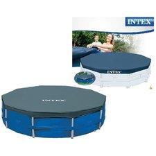 Intex 28030 Afdekzeil voor Frame Zwembad 305cm Blauw