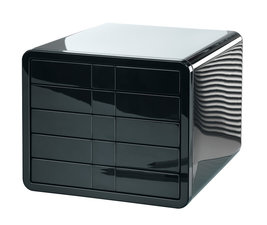 HAN HA-1551-13 Ladenkast I-Box Met 5 Gesloten Laden Zwart