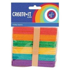 Haza Create It Houten IJsstokjes 50 Stuks Multicolor