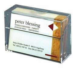 Sigel SI-VA110 Visitekaartjesbox 85x56x27mm Glashelder