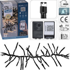 S.I.A. Kerst Clusterverlichting 4.20M 576 LED's + APP