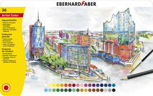 Eberhard Faber EF-516036 Aquarelpotlood Metalen Etui A 36 Stuks