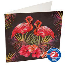 Craft Buddy Crystal Art Diamond Painting Flamingo's 18x18 cm