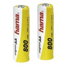 Hama Batterij Set 2 X AA 800 MAh NiMH