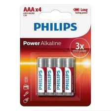Philips AAA Alkaline Batterijen 4 Stuks