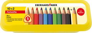 Eberhard Faber EF-511408 Kleurpotlood Jumbo 10 Stuks Assorti Met Potlood En Gum