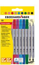 Eberhard Faber EF-550010 Viltstiften Duo 0,8+1-3mm Assorti Etui à 10stuks