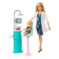 Barbie Tandarts Pop met Kind en Accessoires