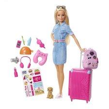 Barbie Gaat op Reis Pop met Hond + Accessoires en Stickers