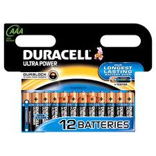 Duracell Ultra Power AAA Alkaline Batterijen 12 Stuks
