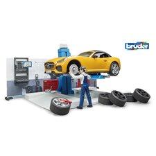 Bruder 62110 BWorld Autowerkplaats met Auto en Figuur + Accessoires