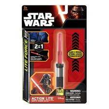 Disney Star Wars 2in1 Lite Force Sleutelhanger met Licht Assorti