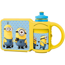 Minions Combi Set Lunchbox En Drinkfles