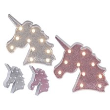 Eenhoorn Glitter LED-Licht Assorti