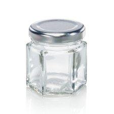 Leifheit 3208 Jampot Zeshoekig 47 ml Glas/Zilver