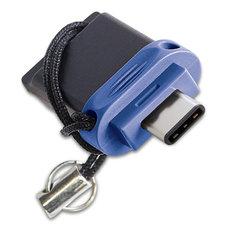 Verbatim Dual USB 3.0 Stick 64GB Zwart/Blauw