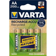 Varta Recycled Oplaadbare AA Batterijen 4 Stuks Goud/Groen