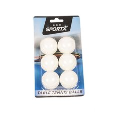 SportX Tafeltennisballen 4 cm 6 Stuks Wit