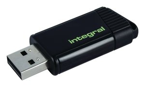 Integral INFD128GBPULGR Usb Stick Usb 2.0 128 Gb Zwart/groen