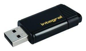Integral INFD64GBPULYL Usb Stick Usb 2.0 64 Gb Zwart/geel