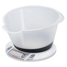 Soehnle 66111 Olympia Plus Digitale Keukenweegschaal met Mengkom 2.2L Wit