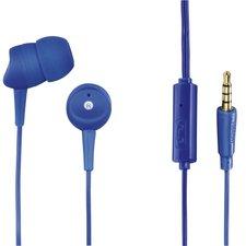 Hama Koptelefoon Basic4Phone In-ear Microfoon Kabel-knikbescherming Blauw