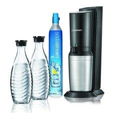 Sodastream Crystal Megapack met 2 Glazen Karaffen en 60L CO2 Cilinder Zwart