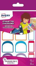 Avery AV-CHAUS12 Etiket Voor Op Schoenen Assorti, 24 Etiketten
