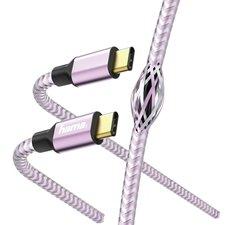 Hama Hama Reflective Charging/Data Cable, USB-C - USB-C, 1.5 m, lavender