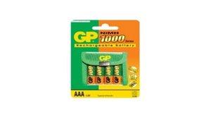 GP NIMH-AAA-02 Batterij NiMH AAA/LR03 1.2 V 1000 MAh 4-blister