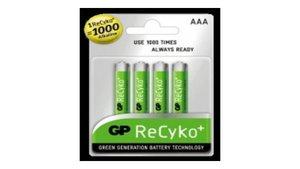 GP R2U-AAA-01 Batterij NiMH AAA/LR03 1.2 V 820 MAh ReCyKo+ 4-blister