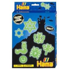 Hama 3414 Glow In Dark Strijkkralenset 1500 Stuks