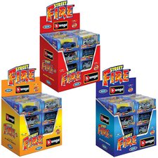 Burago 1:43 Street Fire Auto Display 24 Stuks