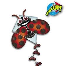 Rhombus Pop-Up Lady Bug Vlieger