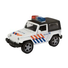 112 Pull-Back Die-Cast Politieauto met Licht en Geluid 11 cm