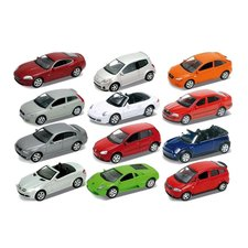 Welly Die-Cast Auto 1:60 Assorti Display 36 Stuks