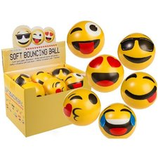 Soft Bouncing Emoji Balls 10cm 12 Stuks 6 Assorti