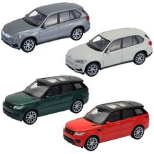 Welly BMW X5/Land Rover Assorti Display 12 Stuks