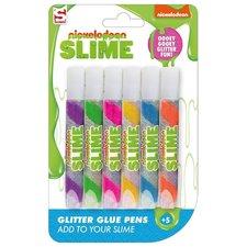 Sambro Nickelodeon Slime Glitter Pennen 6 Stuks