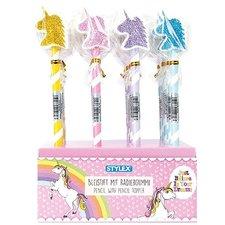 Stylex Potlood Met Gum Unicorn Assorti Display 24 Stuks