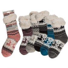 Comfort Sokken One Size Rendier Assorti Doos 12 Stuks