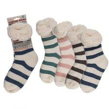 Comfort Sokken One Size Gestreept Assorti Doos 12 Stuks
