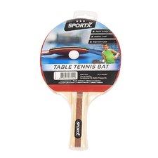 SportX Tafeltennisbat Rubber/Hout