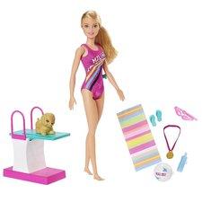 Barbie Dreamhouse Adventures Zwempop + Puppy en Accessoires