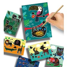 SES Creative Scratch Art Dieren