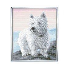 Crystal Art Diamond Painting Westie Hond 21x25 cm