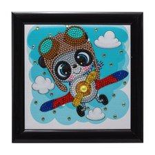 Craft Buddy Crystal Art Vliegende Panda