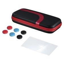 Hama Set (tas,beschermglas,control-opzetstukken) Voor N. Switch,zwart/rood